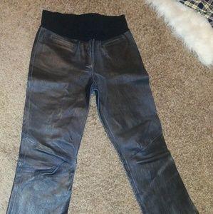 Pants - Maternity leather pants